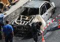 В тоннеле на Садовом кольце в Москве сгорела машина