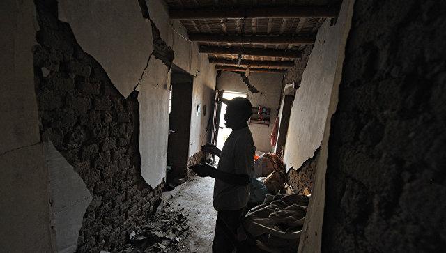 Последствия землетрясения в городе Ачари в Перу. 14 января 2018