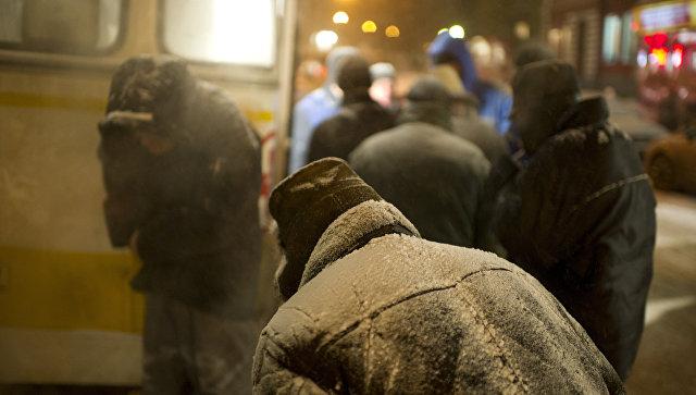 Бездомные люди. Архивное фото