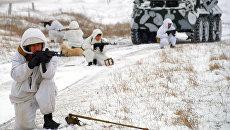 Военнослужащие инженерной роты армии ЛНР во время работ по разминированию на линии разграничения в Луганске. Архивное фото