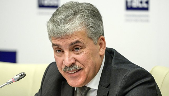 Кандидат в президенты РФ Павел Грудинин. 19 января 2018