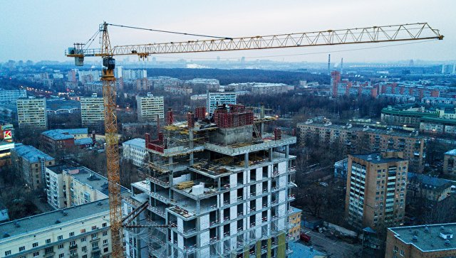 Строительство многоквартирного жилого дома в Москве. Архивное фото