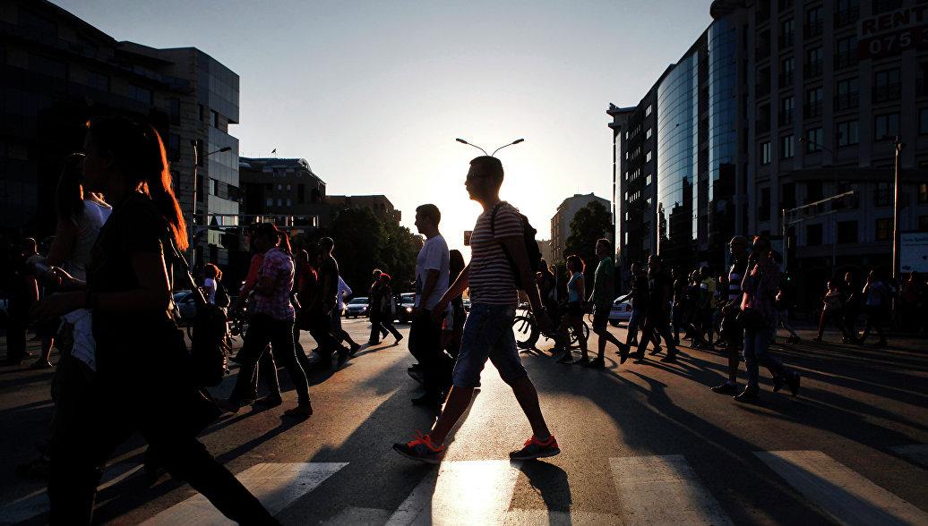 На улицах македонского города Скопье