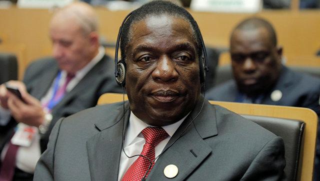 Зимбабвийский государственный деятель Эммерсон Мнангагва. 28 января 2018