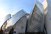 Здание фонда Louis Vuitton в Париже