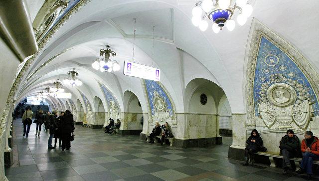 Станция Кольцевой линии Московского метрополитена Таганская. архивное фото