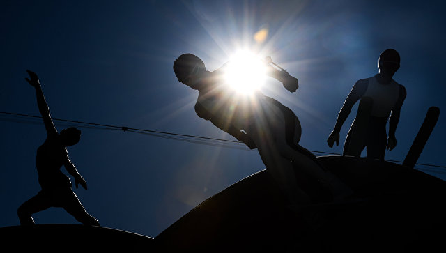 Скульптурная композиция Сonnected one в Олимпийском парк Хвэнге в Пхенчхане