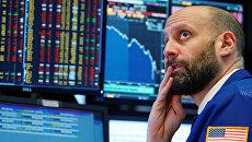 На фондовой бирже в Нью-Йорке, США. 6 февраля 2018