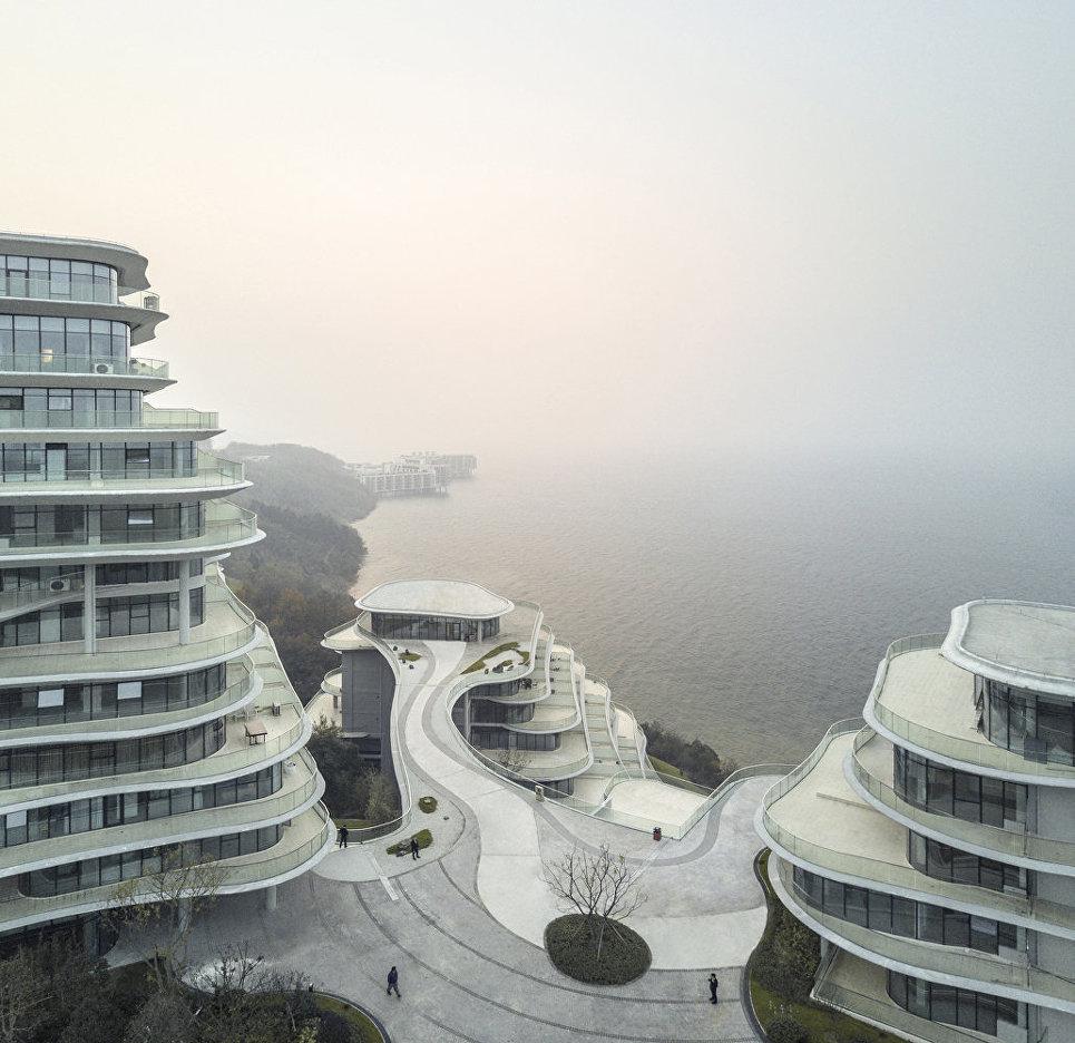 Комплекс апартаментов «Хуаншаньская горная деревня» в китайском национальный парк Хуаншань