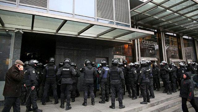 Ситуация у здания редакции газеты Вести в Киеве