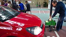 Пункт технического осмотра автомобилей. Архивное фото