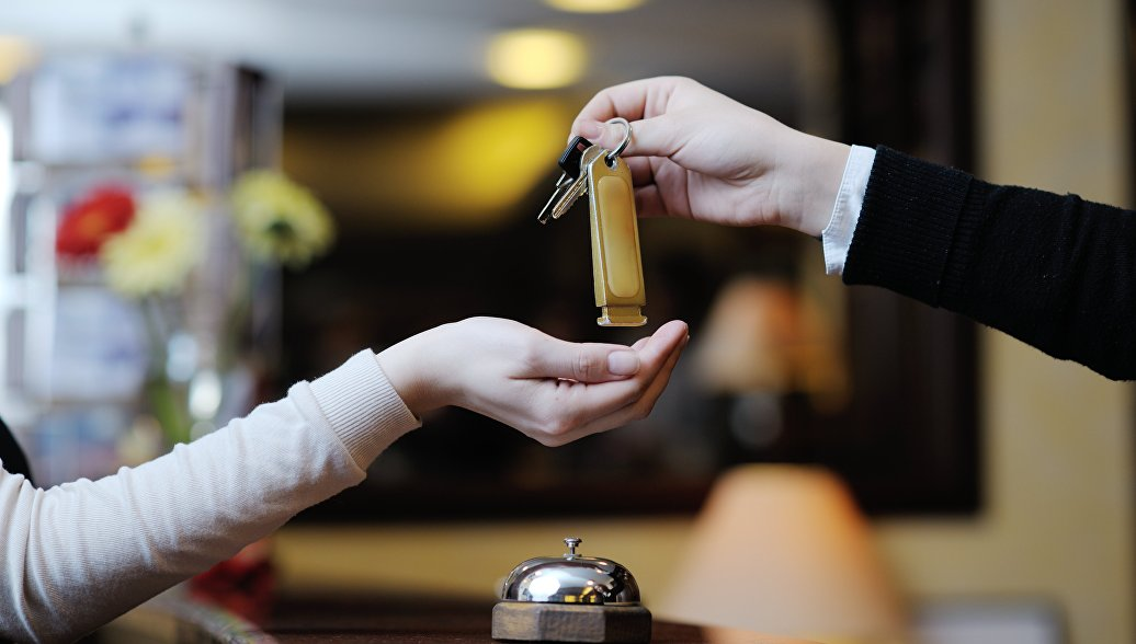 Выдача ключей в отеле