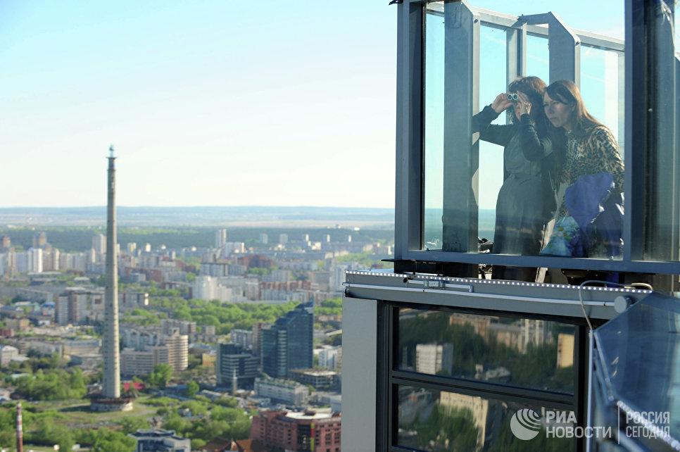Смотровая площадка на небоскребе Высоцкий в Екатеринбурге