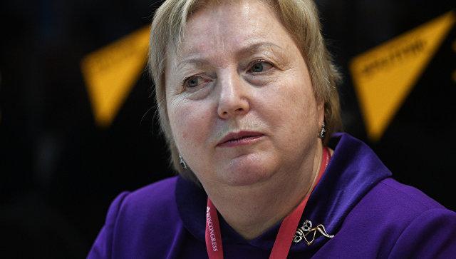 Заместитель руководителя ФТС Татьяна Голендеева во время интервью на Российском инвестиционном форуме в Сочи