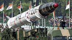 Индийская баллистическая ракета Агни. Архивное фото