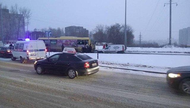 ДТП в Перми с участием микроавтобусов. 20 февраля 2018