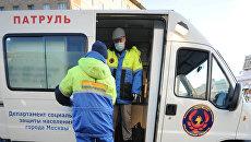 Акция мобильной службы Социальный патруль в Москве. Архивное фото