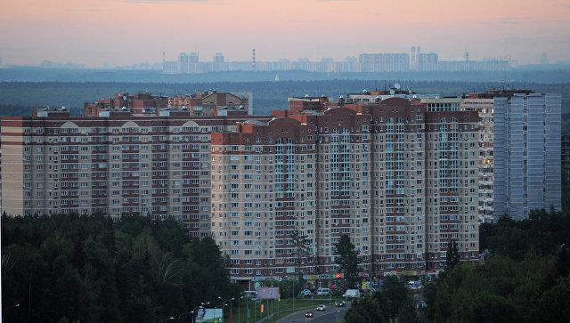 Вид на один из микрорайонов в городе Троицке
