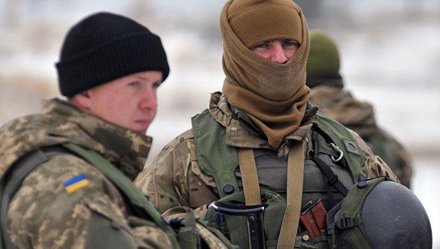 Военнослужащие украинских вооруженных сил Украины. Архивное фото