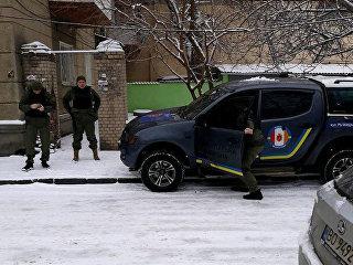 Ситуация у здания санатория Лермонтовский в Одессе, Украина. 23 февраля 2018