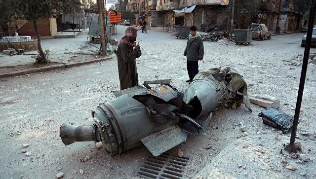 Обломки ракеты в Восточной Гуте. Архивное фото