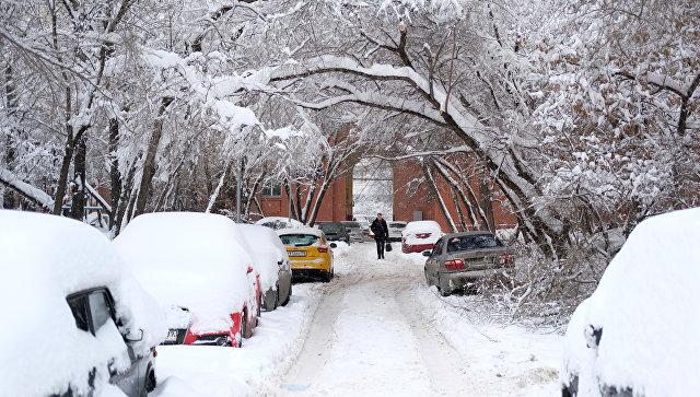 Снегопад возвратится в российскую столицу навыходных