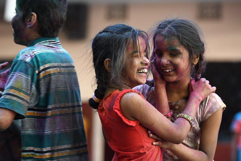 Фестиваль красок Холи в Хайдарабаде