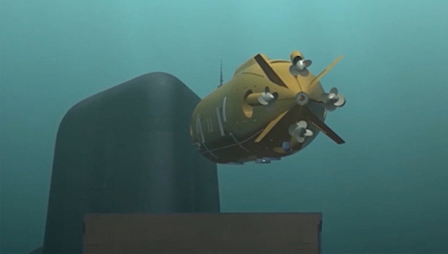 Демонстрация принципа действия океанской многоцелевой системы с беспилотными подводными аппаратами