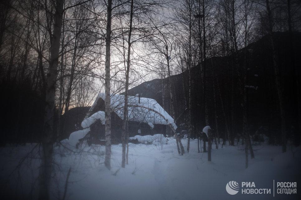 Изба по пути к заимке Лыковых.
