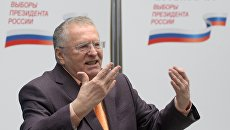 Кандидат в президенты РФ, лидер ЛДПР Владимир Жириновский. Архивное фото