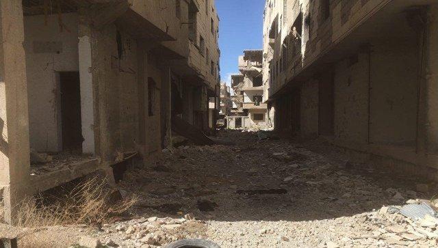 Южный выход из сирийской Восточной Гуты. архивное фото