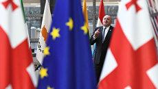 Президент Грузии Георгий Маргвелашвили во время визита в Брюссель