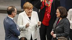 Канцлер Германии Ангела Меркель в Бундестаге. 14 марта 2018