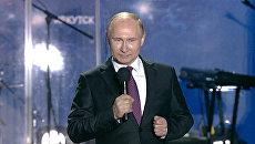 Путин поблагодарил крымчан за настоящую демократию