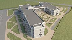 Визаулизация проекта дома-интерната вблизи села Покровское в новой Москве