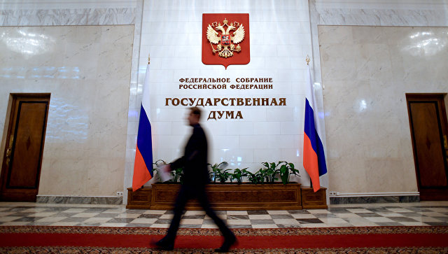 В здании Государственной Думы РФ . Архивное фото