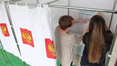 Подготовка избирательного участка к выборам президента РФ