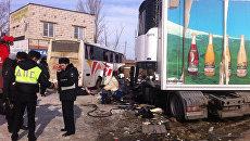 ДТП с участием пассажирского автобуса в Павловском районе Воронежской области. 20 марта 2018