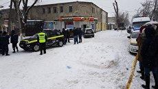 Место взрыва у магазина в Кишиневе. 20 марта 2018