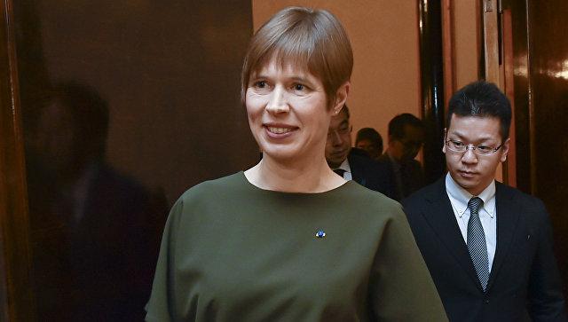 Президент Эстонской Республики Керсти Кальюлайд. Архивное фото