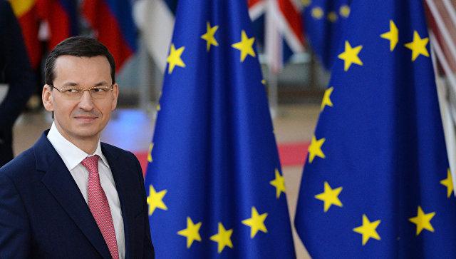 Премьер-министр Польши Матеуш Моравецкий на саммите ЕС в Брюсселе. 22 марта 2018