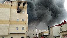 Пожар в здании торгового центра Зимняя вишня в Кемерово. Архивное фото
