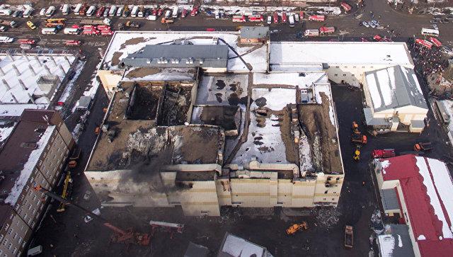 Здание торгового центра Зимняя вишня в Кемерово, где произошел пожар. Архивное фото