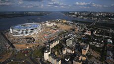Строительство стадиона Нижний Новгород. Архивное фото