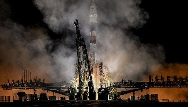 Пуск ракеты-носителя Союз. Архивное фото
