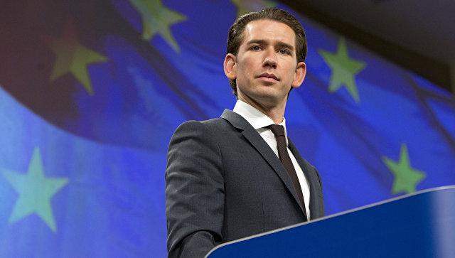 Федеральный канцлер Австрии Себастьян Курц. Архивное фото