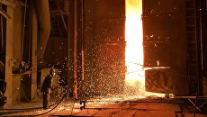 На Магнитогорском металлургическом комбинате. Архивное фото