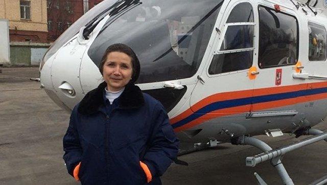 Женщина-пилот в санитарной авиации Екатерина Орешникова