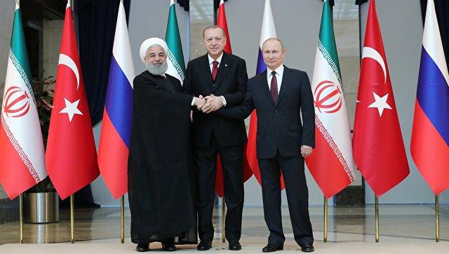 Россия, Турция и Иран продолжат сотрудничество для достижения мира в Сирии