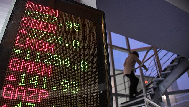 Стоимость акций российских компаний на экране. Архивное фото